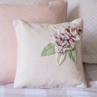 Personalised Ivory Vintage Rose Cushion - Ivory Gifts