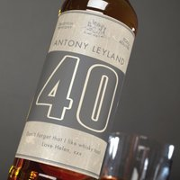 Personalised Malt Whisky - 40th Birthday