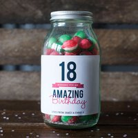Personalised Jar Of Rosy Apple Sweets - Happy 18th - 18th Gifts
