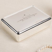 Engraved Jewellery Box - On Our 40th Anniversary - 40th Gifts