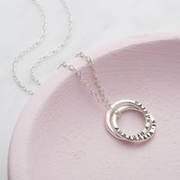 Personalised Posh Totty Designs Two Ring Russian Necklace - Posh Gifts