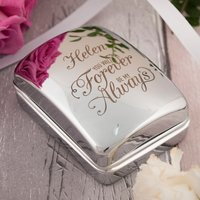 Engraved Jewellery Box With Heart Necklace & Earrings - Forever & Always - Jewellery Box Gifts