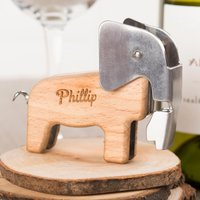 Personalised Elephant Bottle Opener & Corkscrew - Elephant Gifts