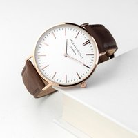 Personalised Men's Modern-Vintage Leather Watch In Camel - Getting Personal Gifts