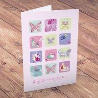 Personalised Card - Happy Birthday Butterflies - Butterflies Gifts