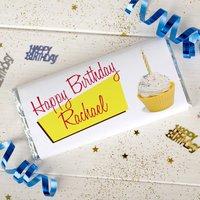 Personalised Chocolate Bar - Birthday Cupcake - Cupcake Gifts