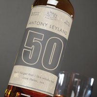 Personalised Malt Whisky - 50th Special Birthday