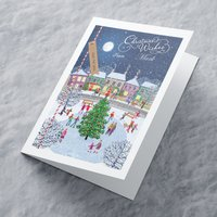Personalised Christmas Card - Ice Skating Scene - Ice Skating Gifts