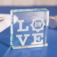 Personalised Glass Token - LOVE POLICE - Police Gifts