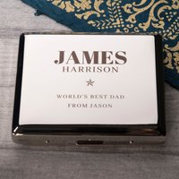 Engraved Cigarette Case - World's Best - Cigarette Gifts