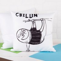 Personalised Cushion - Banter Pants, Sloth Chillin' - Underwear Gifts