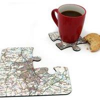 Personalised Landranger Map Jigsaw Coasters - Jigsaw Gifts