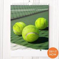 Personalised Tennis Calendar - Tennis Gifts