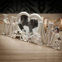 Mr & Mrs Heart Shaped Photo Frame - Photo Frame Gifts