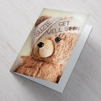 Personalised Card - Get Well Teddy - Teddy Gifts
