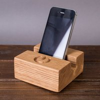 Solid Oak Phone Stand - Phone Gifts