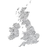 Word Map Art Print UK & Ireland - Ireland Gifts
