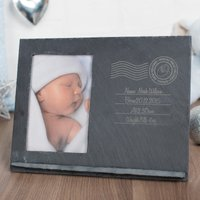 Engraved Slate Chalkboard Photo Frame - Special Xmas Delivery - Xmas Gifts