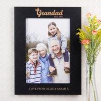 Personalised A4 Frame - Grandad Crown - Grandad Gifts