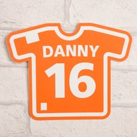 Personalised Orange Room Sign - Football Shirt - Football Gifts