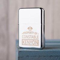 Engraved Lighter - Police Property - Police Gifts