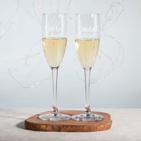 Personalised Set Of 2 Champagne Flutes - Future Mrs & Mrs - Getting Personal Gifts