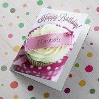 Personalised Card - Birthday Cupcake - Cupcake Gifts
