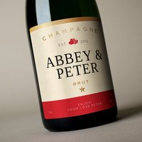 Luxury Personalised Champagne - Classic Love