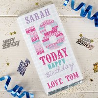 Personalised Chocolate Bar - 18 Today Pink - 18th Birthday Gifts