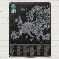 Gourmet Scratch Map - Gourmet Gifts