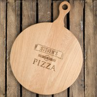 Personalised Pizza Board With Cutter - Pizza Gifts