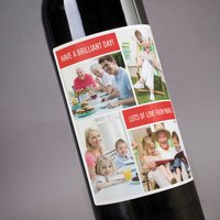 Photo Upload Wine - 4 Photos & 2 Messages - Photos Gifts