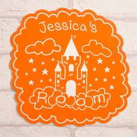 Personalised Orange Room Sign - Castle - Orange Gifts