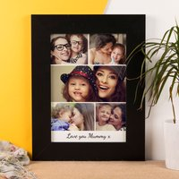 Multi Photo Upload Framed Print - 5 Photo's Any Message - Photos Gifts