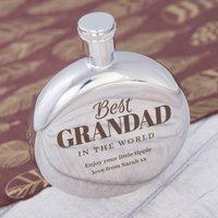 Engraved Round Hip Flask - Best Grandad - Flask Gifts