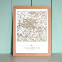Personalised Your House In the Centre Framed Map Print - Decorations Gifts