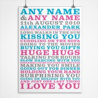 Personalised I Love You Print - Decorations Gifts