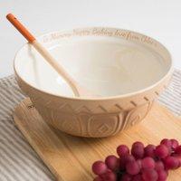 Personalised Tan Mixing Bowl - Bowl Gifts