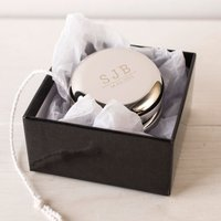 Engraved Silver Plated Yo-Yo - Initials And Date