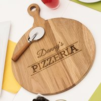Personalised Pizza Board With Cutter - Pizzeria - Pizza Gifts