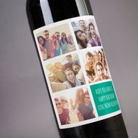 Photo Upload Wine - 5 Photos & A Message - Photos Gifts