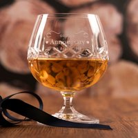 Image of Engraved Crystal Brandy Glass - Golden Anniversary