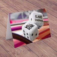 Personalised Card - Driving Test Dice - Dice Gifts