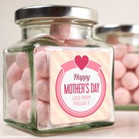 Personalised Jar Of Strawberry Bonbons - Mother's Day