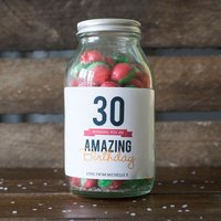 Personalised Jar Of Rosy Apple Sweets - Happy 30th - 30th Gifts
