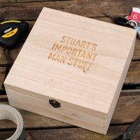 Personalised Storage Box - Important Man Stuff - Stuff Gifts
