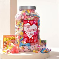 Personalised Retro Sweet Jar - Happy Valentine's Day