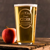 Personalised Pint Glass - Cider Stars - Cider Gifts