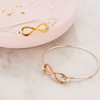 Personalised Posh Totty Designs Infinity Open Bangle - Posh Gifts