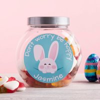 Personalised Haribo Sweet Jar - Don't Worry Be Hoppy - Haribo Gifts